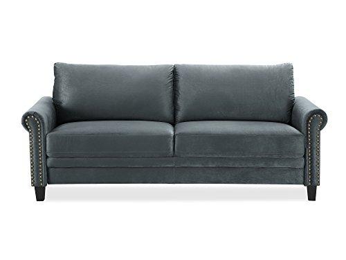 Pearington Herrin Microfiber Living Room 2 Seat Sofa, Grey