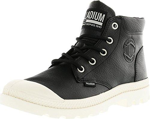 Palladium Dames Pampa Lo Manchet Leer Enkelkleurig Mode Sneaker Zwart