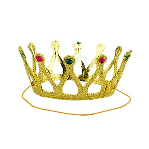 Adorox Gold Royal King Plastic Crown Prince Costume Accessory (1) (Royal) -