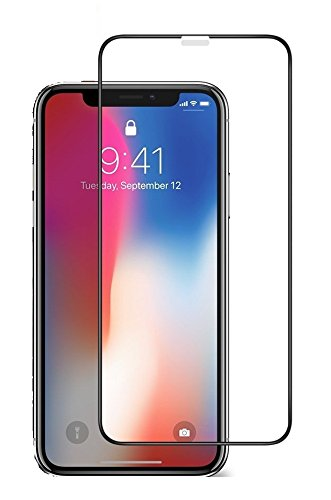 Full Glass Screen Protector Guard for iPhone X - Black