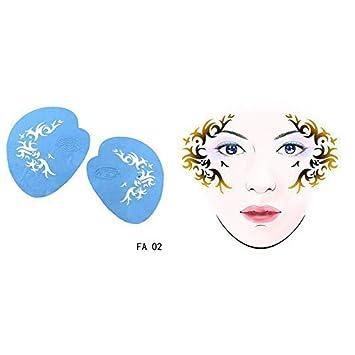 Hongma Face Painting Schablonen Schablonenmalerei Stencil Schablonen f/ür Bodypainting Gesicht Scrapbooking DIY