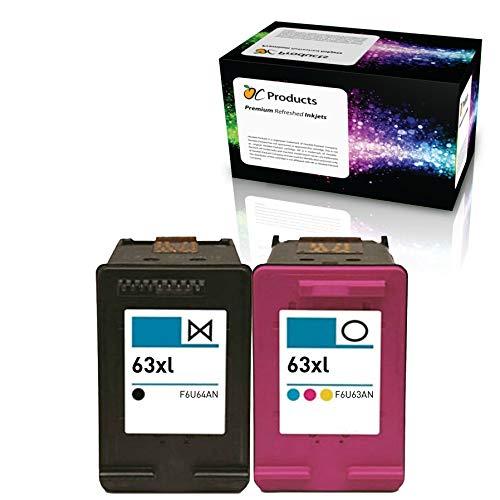 ocproducts refilled HP 63 X L Cartuchos de tinta de repuesto para ...