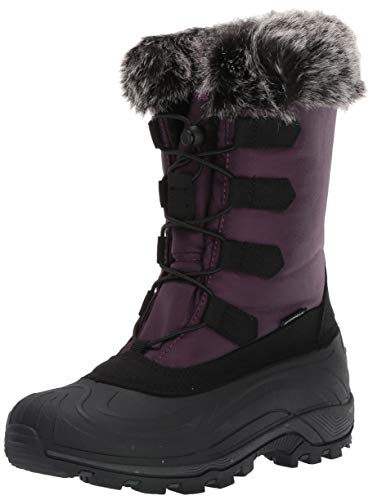 (TECS: Warm Winter Boots for Women, Insulated, Non Slip, Insulated, Felt Liner + Waterproof Boots, Snow Boots for Women, Purple, 8 M US)