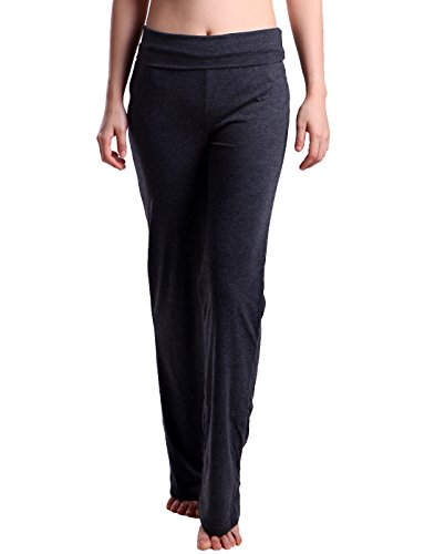 - HDE Foldover Athletic Yoga Pants Gym Workout Leggings (Charcoal Gray, XX-Large)