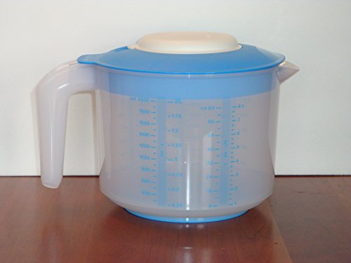Tupperware Mix-N-Stor Pitcher 2Qt with Raindrop Blue Seal by Tupperware (Used Tupperware)