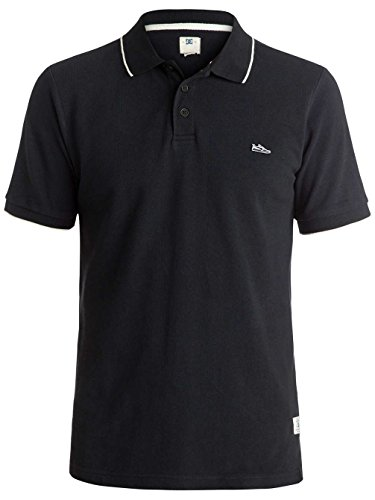 Dc Shoes Mens 100% Cotton Polo Shirt Black Size S ()