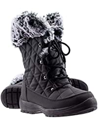 Women's Anna Warm Waterproof Insulated Comfortable Memory Foam Fur Winter Snow Boots