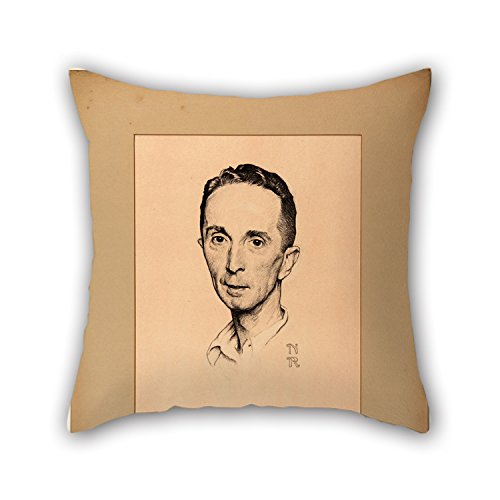 beeyoo Pillow Cases 20 X 20 inches / 50 by 50 cm(Double Sides) Nice Choice for Indoor Floor Lover Teens Boys Wife Kids Girls Oil Painting Norman Rockwell - Self-Portrait]()