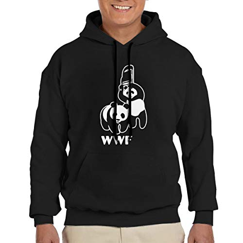 KOAWH Mens Funny WWF Panda Bear Wrestling Hoodie, Pocket Sweatshirt,Classic Hooded,Fashion Hoodie by KOAWH
