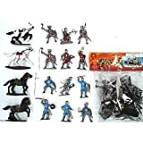 : Crusaders Knights in Armor PVC Action Figure Playset