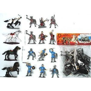 Crusaders Knights in Armor PVC Action Figure Playset (Best Armor In History)