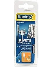 Rapid Blindklinknagels ALU Universal Ø 4 mm, 8-10 mm klembereik, 50 stk. klinknagels, set incl. boor, voor blindklinknagels