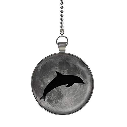 Dolphins Moon (Dolphin Moon Glow in the Dark Fan/Light Pull Pendant with Chain)