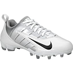 Nike WMNS Speedlax III Womens Lacrosse Cleats (6, White/Black-Metallic Silver)