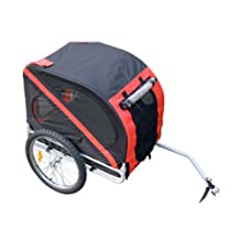 Aosom Elite Pet Bike Carrier / Trailer - Red / Black Red / Black