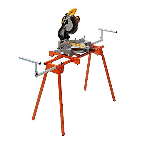"""Folding Miter Saw Stand PM-4000 Portamate – Heavy Duty 36"""" Work Height Miter Saw Stand with Quick Attach Mount, 13"""" Support T's and 500 lb. Capacity"""