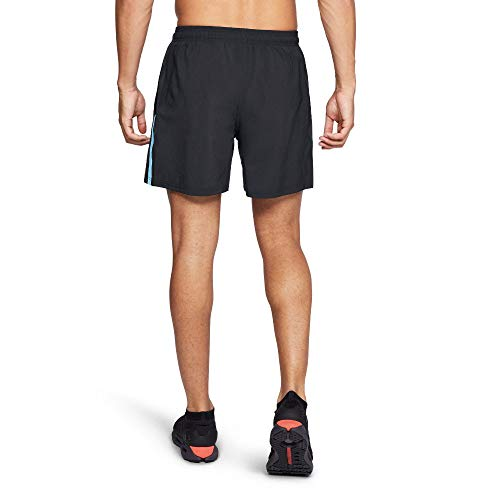 Under Armour Men's Launch Sw 5'' Shorts, Black (011)/Reflective, Medium by Under Armour (Image #1)