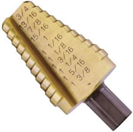 B000EB88SQ Irwin 15221 Unibit21T Titanium Nitrate Coated 13/16-Inch to 1-3/8-Inch by 1/2-Inch Shank Hole Enlarging Step Drill Bit 41TYXC02PPL.
