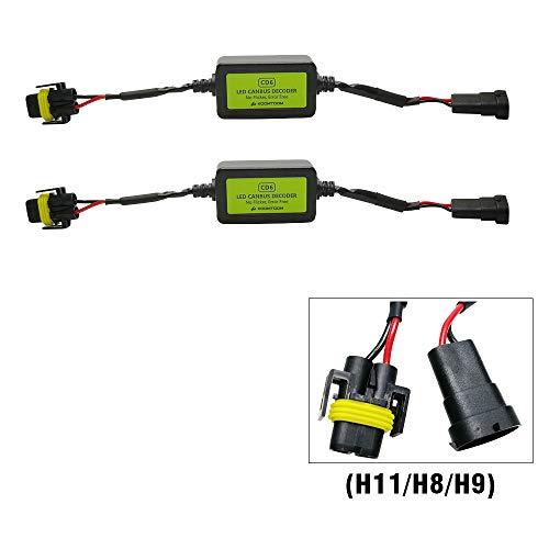 KOOMTOOM Led Resistor H11 Canbus Decoder H8 Anti flicker Harness H9 Headlight Bulb Light Warning Error EMC Canceller Decoder For Dodge Volvo Jeep Patriot Commander