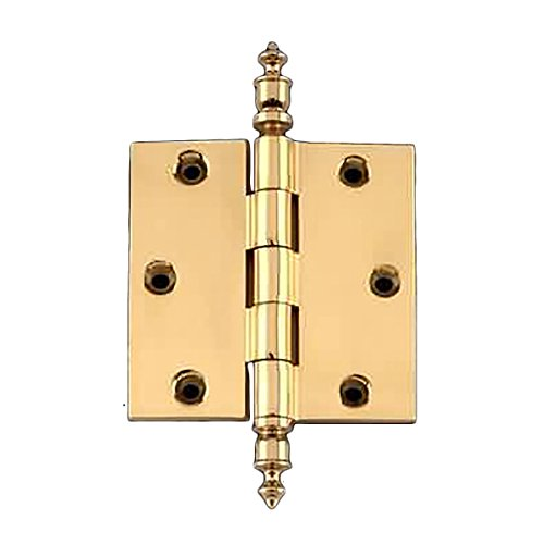 (Solid Brass Door Or Cabinet Hinge Urn Tip 3 1/2