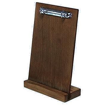 Tavistock de roble oscuro de madera pizarra para menú con ...