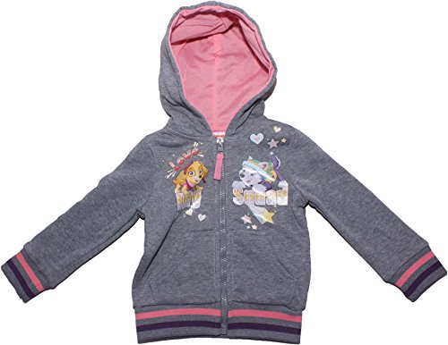 Paw Patrol Love My Squad Girls Hooded Sweater Jumper Grey 5-6 Years New 2018 by PAW PATROL GIRLS (Image #1)