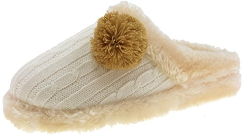 Beppi Slippers Slippers with warm and comfortable Lining-Grey / pink / beige Beige - Beige Abuc2p
