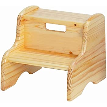 Little Colorado Natural Step Stool Natural  sc 1 st  Amazon.com & Amazon.com: KidKraft Two Step Stool for Kids in White: Kitchen ... islam-shia.org