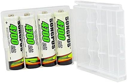 4 x AAA Pilas 2700 mAh 4 x AA Pilas 4700 mAh Batería Caja recargables # 359 4 x AA 4700 mAH: Amazon.es: Informática