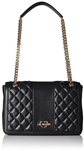 Nappa Borsa Love Satchel Pu Quilted Moschino Women��s Nero Black UqUIxOSpZw