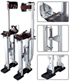 Drywall Painting Stilts: 24'' to 40'' Adjustable Aluminum Silver