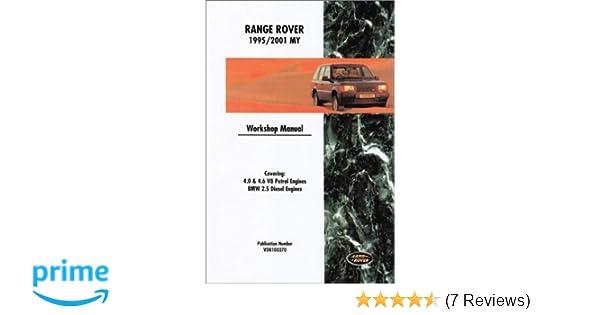 Range rover official workshop manual 1995 2001 rover group ltd range rover official workshop manual 1995 2001 rover group ltd british leyland motors 9780837606712 amazon books fandeluxe Images