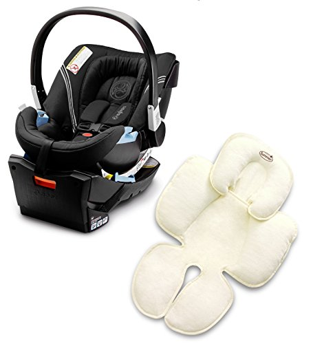 Cybex Aton 2 Infant Car Seat with Summer Infant Snuzzler, Charcoal