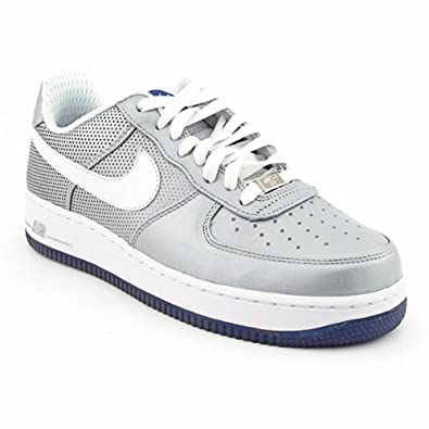 sports shoes fb5be 2b28f ... amazon nike air force 1 premium quotfutura ny yankeesquot metallic  silver white 29765 5fb5c