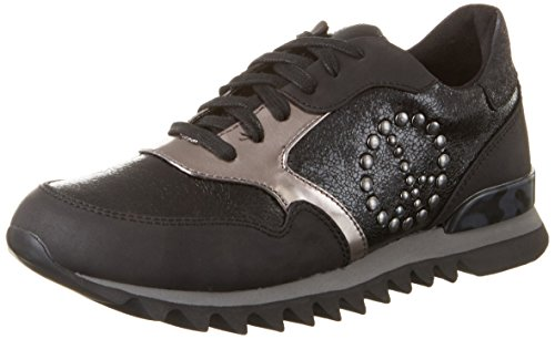 Black 23614 top Tamaris 053 Women''s black Sneakers Str Low comb H1Xxpwxq54