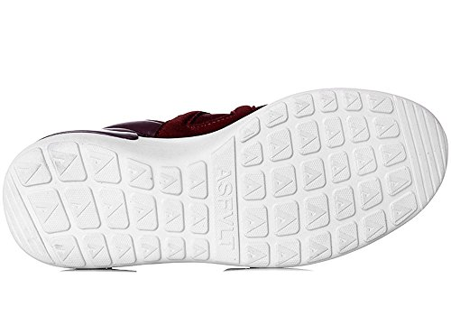 Asfvlt - Zapatillas de Piel para hombre Amaranto