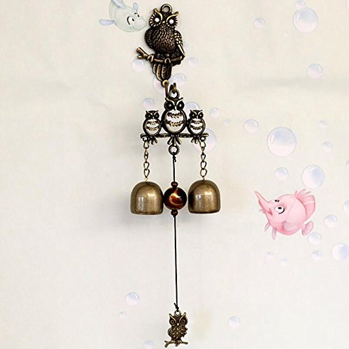 LingStar Brass Birds Wind Chime Decorative Copper Bell Shop Keeper's Bell For Sale