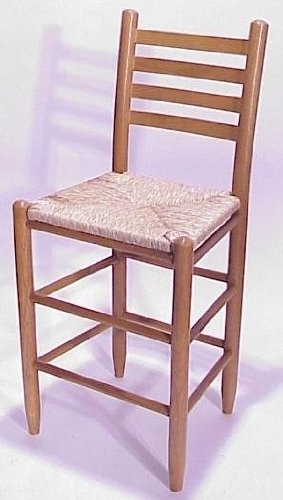 Dixie Seating Company O 24 in. Woven Seat Ladderback Bars...
