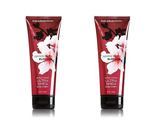 Bath and Body Works Japanese Cherry Blossom 24 Hour Moisture Ultra Shea Body Cream (2 Pack) ()