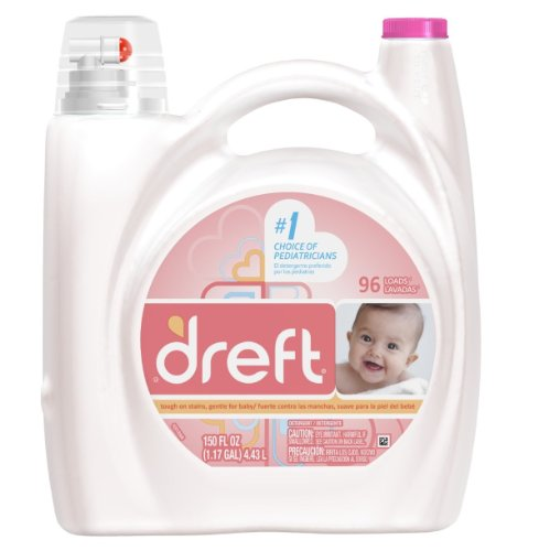 Dreft Concentrated Liquid Detergent 96 Loads 150 Fl Oz (Pack of 4) by Dreft