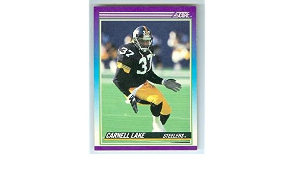 fe80e0820ef Carnell Lake football card (Pittsburgh Steelers All Pro) 1990 Score  111  Rookie Season at Amazon s Sports Collectibles Store