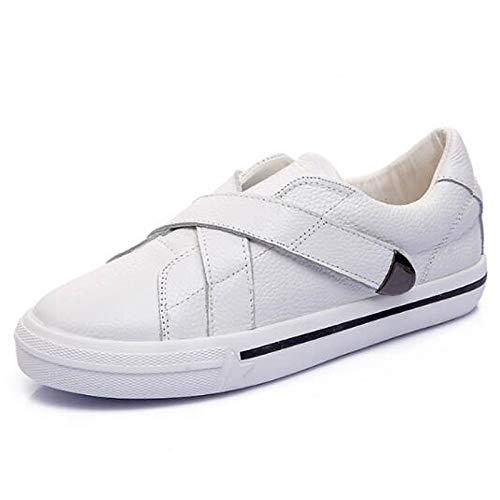 Comfort SHOESHAOGE De Flat Zapatos Pie Blanco del Heel Dedo Cerrado Mujer Negro Blanco Cqq51n6