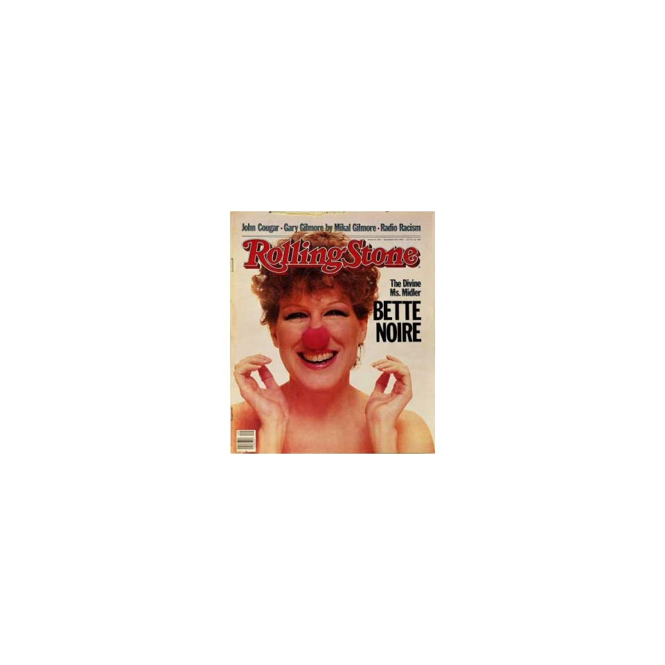 Rolling Stone Cover of Bette Midler / Rolling Stone Magazine Vol. 384