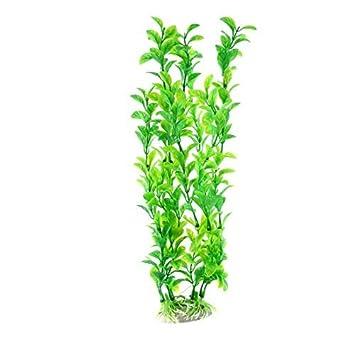 eDealMax Planta pecera tanque de agua del paisaje de hierba Artificial acuática 31cm Altura