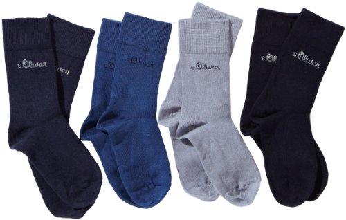 s.Oliver Jungen Socke 4 er Pack, S20205, Gr. 35-38, Mehrfarbig (30 blue, blue, stone, navy)