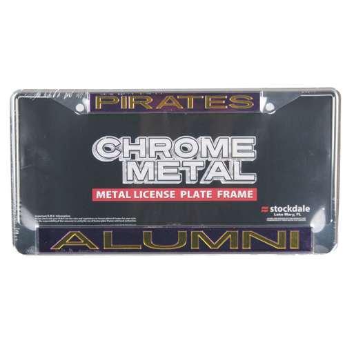 Stockdale East Carolina Pirates Metal Alumni Inlaid Acrylic License Plate Frame