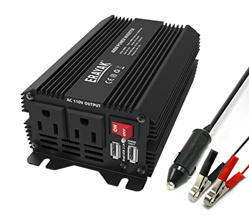 400W Power Inverter DC to AC 12V Inverter with 3.1A Dual USB Ports and Car Cigarette Lighter Car ConverterTUV Certified ()
