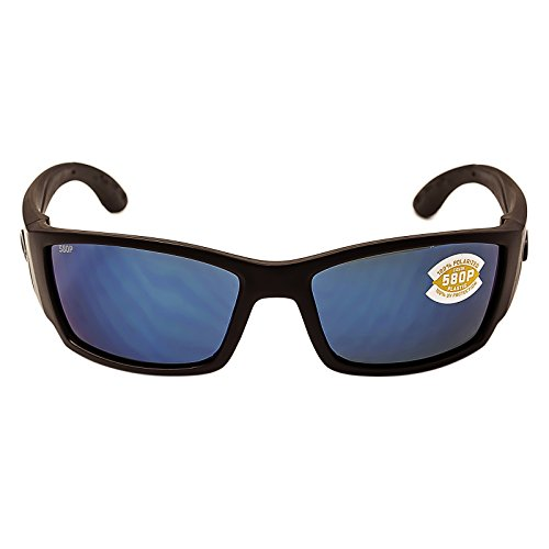 Costa Del Mar Corbina Sunglasses, Blackout, Blue Mirror 580Plastic - Corbina Costa Sunglasses
