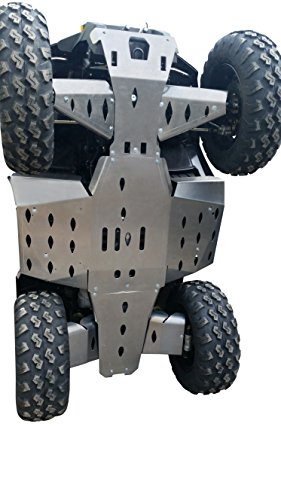 Guards A-arm Aluminum (Skidplate Polaris Sportsman 570 2015-, Complete set including rear and front A-Arm guards in 4mm (1 37/64 in) aircraft aluminum)