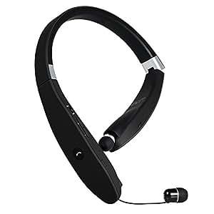 18 ORE Auricolari Bluetooth Sport,Bluetooth v4.1 Cuffie Stereo Impermeabile con filo Retrattile,Microfono,Volume Regolabile,per Fitness Running Correre Jogging/iPhone Samsung LG Xiaomi Huawei